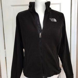 North Face Black Fleece Zip Up Jacket